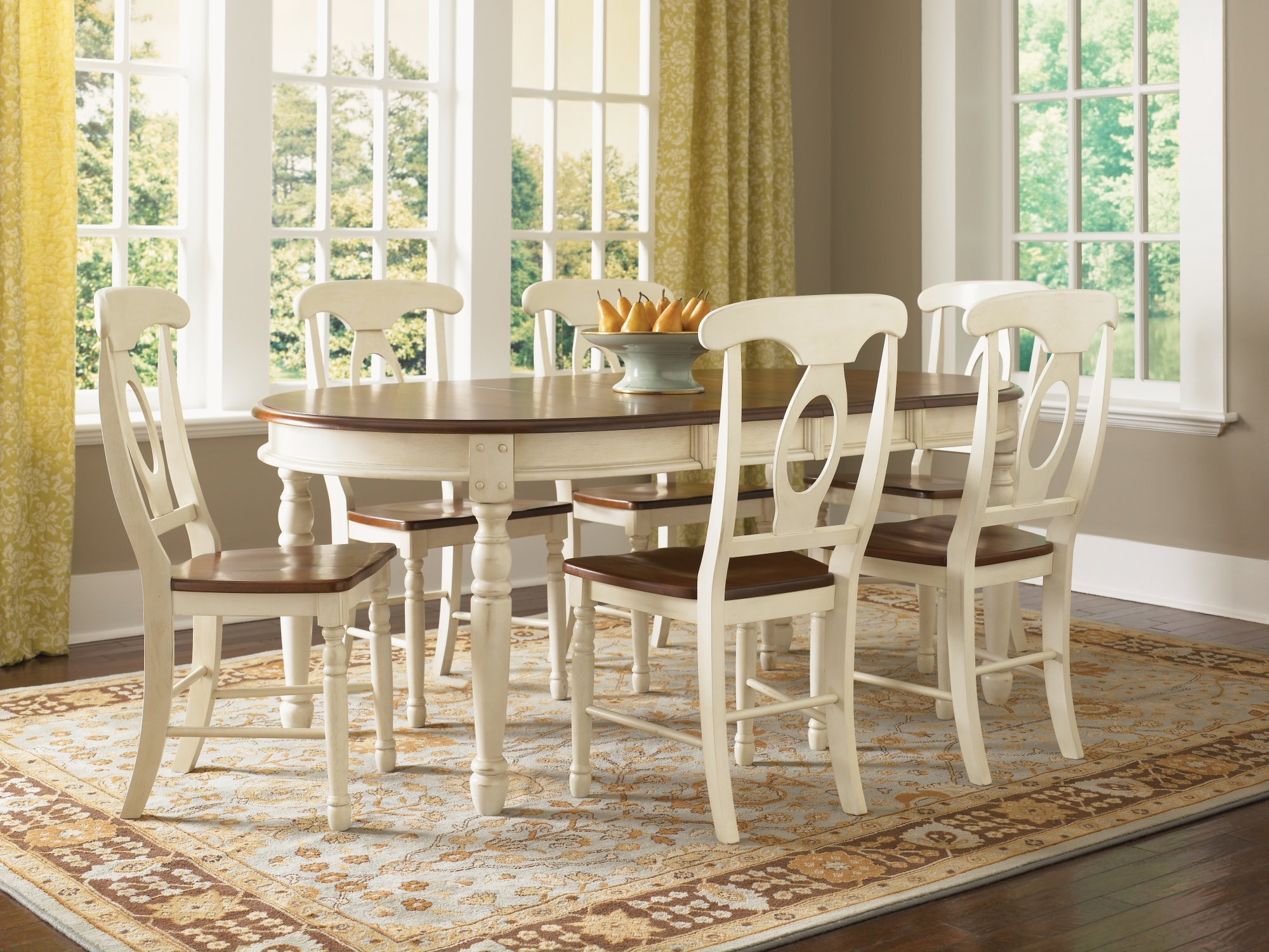 A America British Isles Merlot Amp Buttermilk Dining Collection