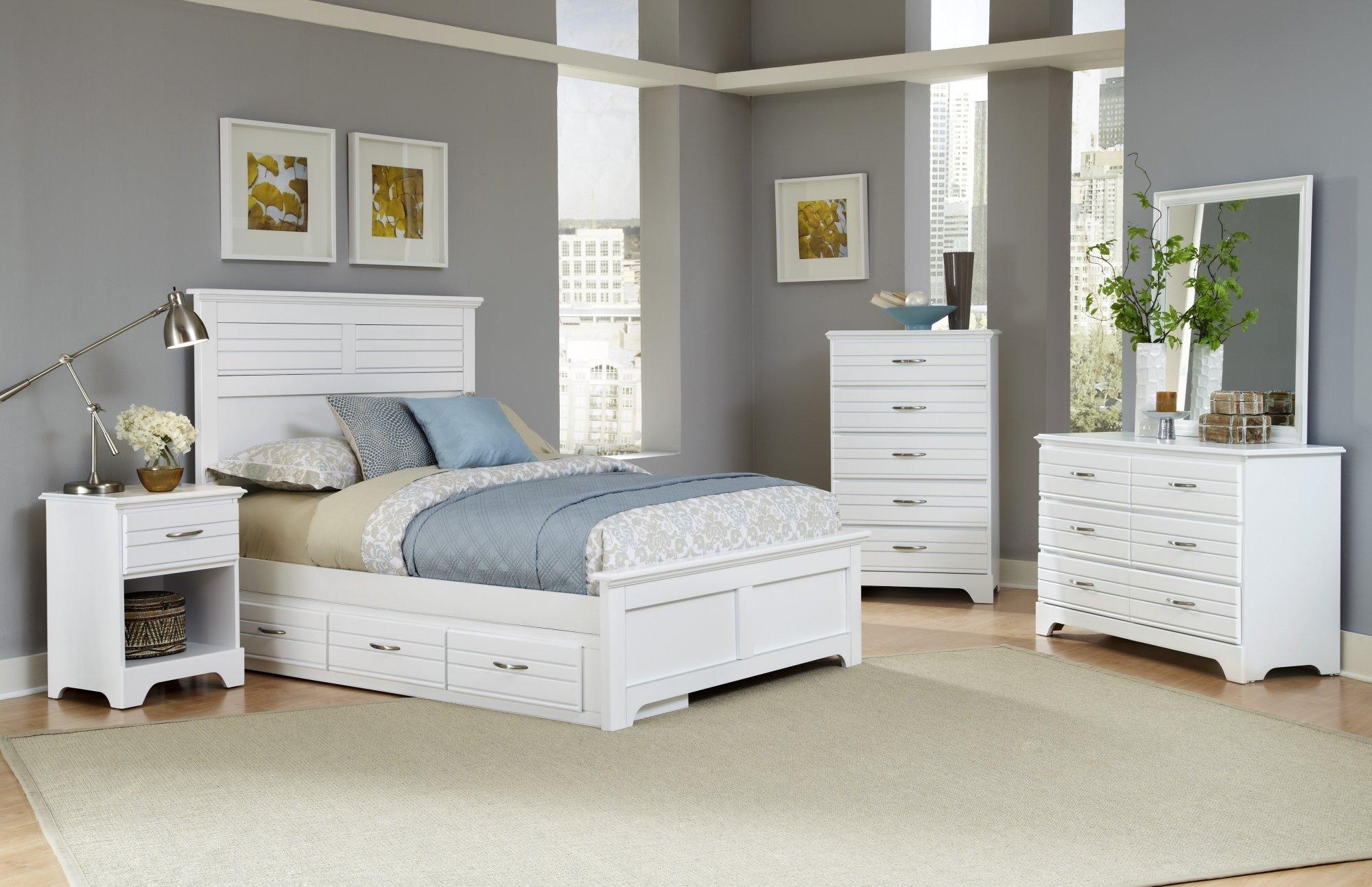 Carolina Furniture Platinum Series White Bedroom Collection