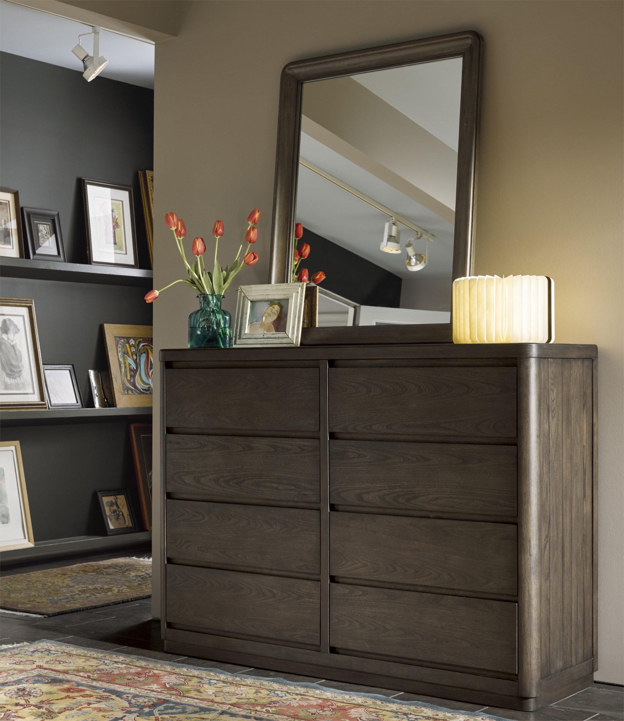 Curated Graphite Bedroom