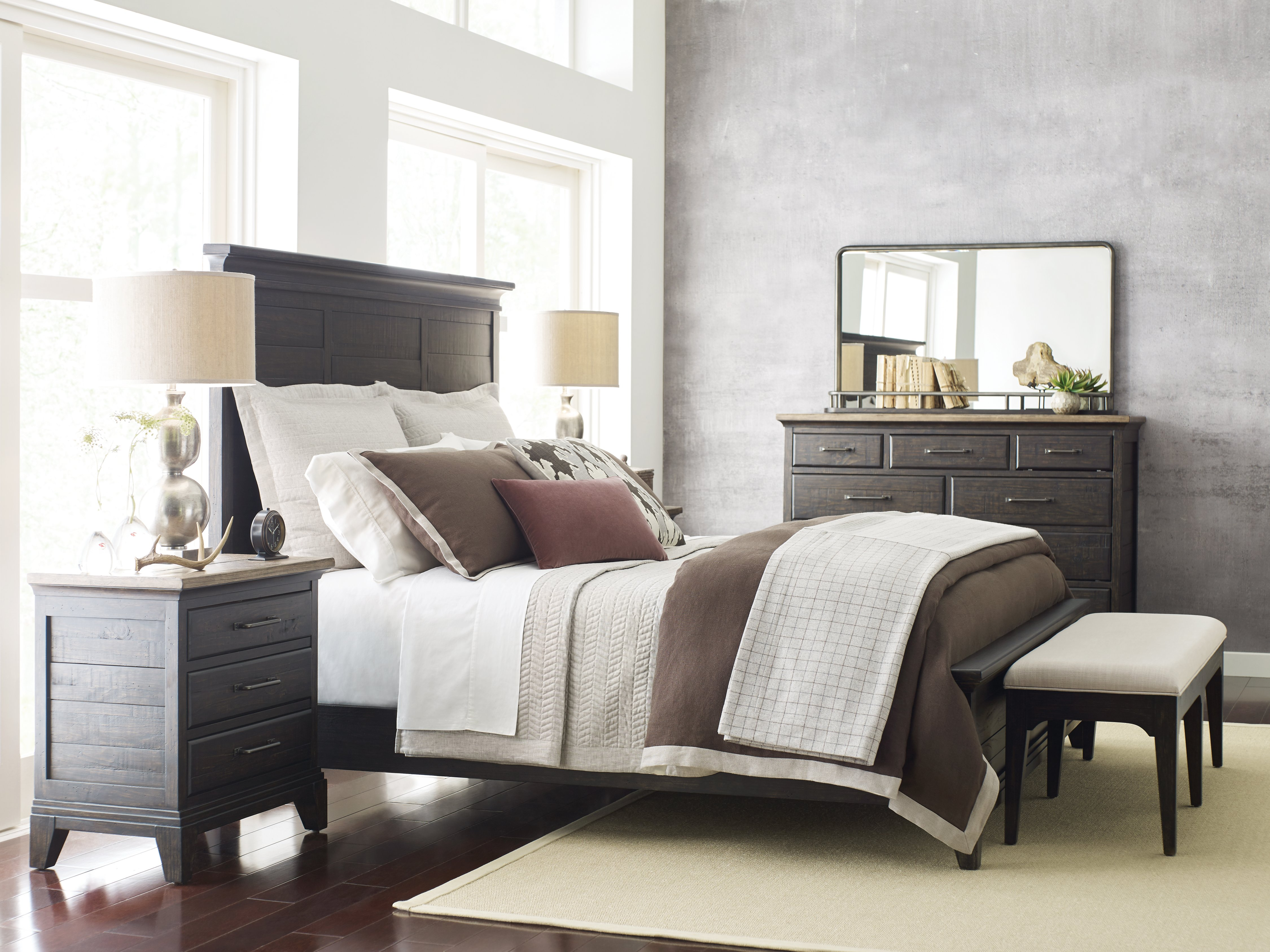 Kincaid Plank Road Bedroom Charcoal Collection