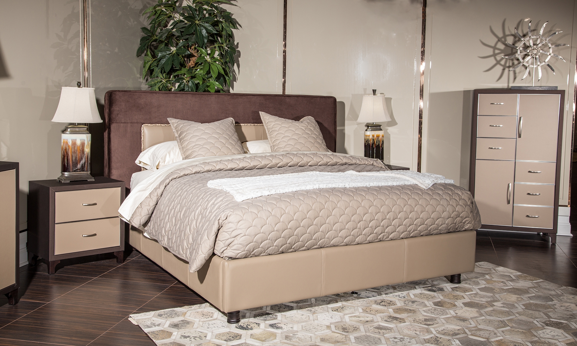 21 Cosmopolitan Taupe Bedroom 5000 And Up Bedroom Shop By Room