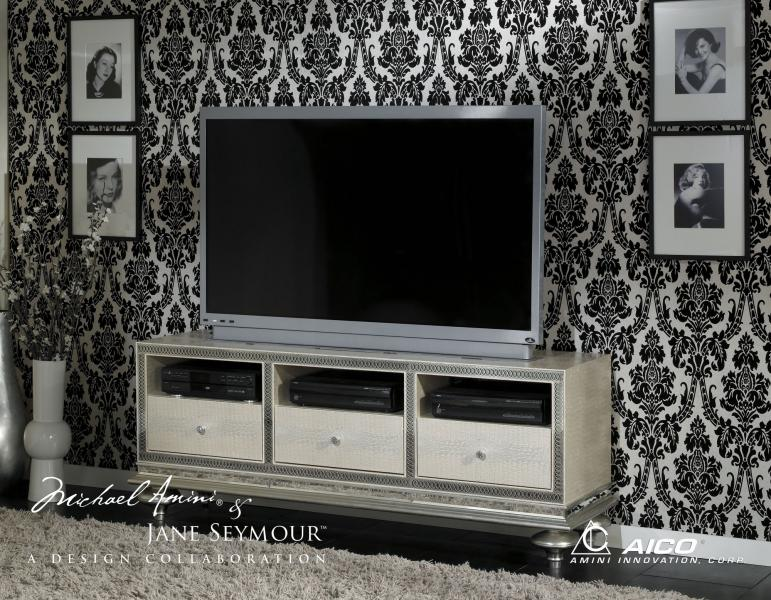 Hollywood Swank Entertainment & Home Office-Crystal Croc Image 2