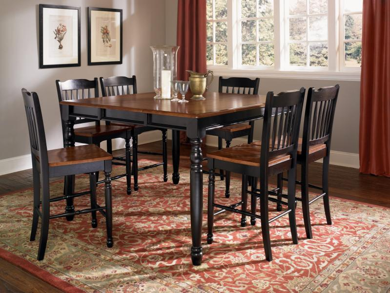 A America British Isles Antique Black Amp Oak Dining Collection