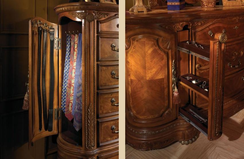 Valencia Carved Wood Traditional Bedroom Furniture Set 209000: Aico Cortina Bedroom By Michael Amini
