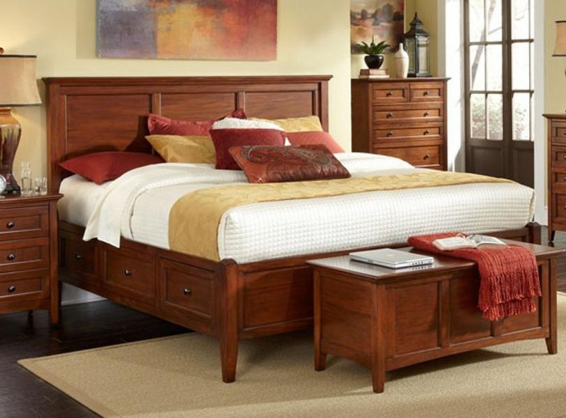 Westlake Cherry Brown Bedroom By A America