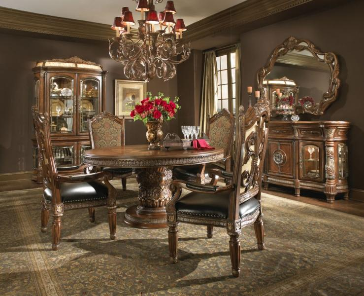 Valencia Carved Wood Traditional Bedroom Furniture Set 209000: Aico Villa Valencia Dining Room Furniture