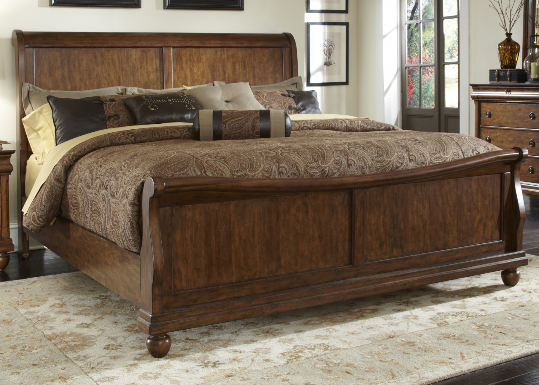 liberty rustic traditions king sleigh bed 589 br set68 17026 | liberty rustic traditions 589 br set81br21f h 90 1 1