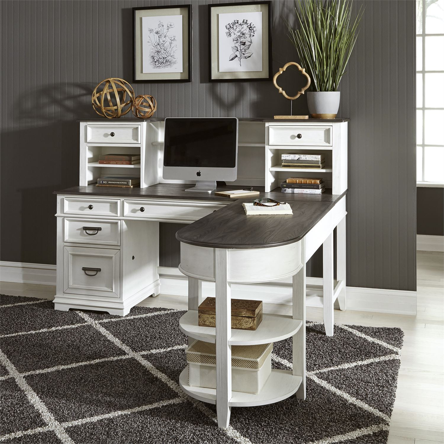 L Shaped Desk Set Allyson Park Home Office Office Furniture Liberty Shop By Brand