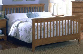 More Views Carolina Furniture Oak Queen Slat Bed