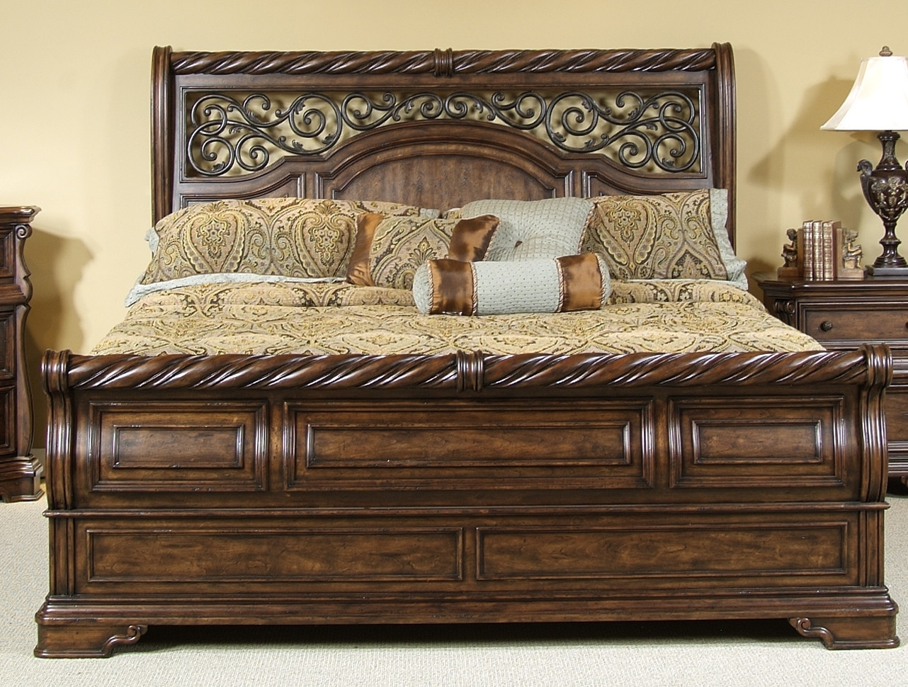 Liberty Arbor Place Queen Sleigh Bed 575 Br Set81 Br21f H 90