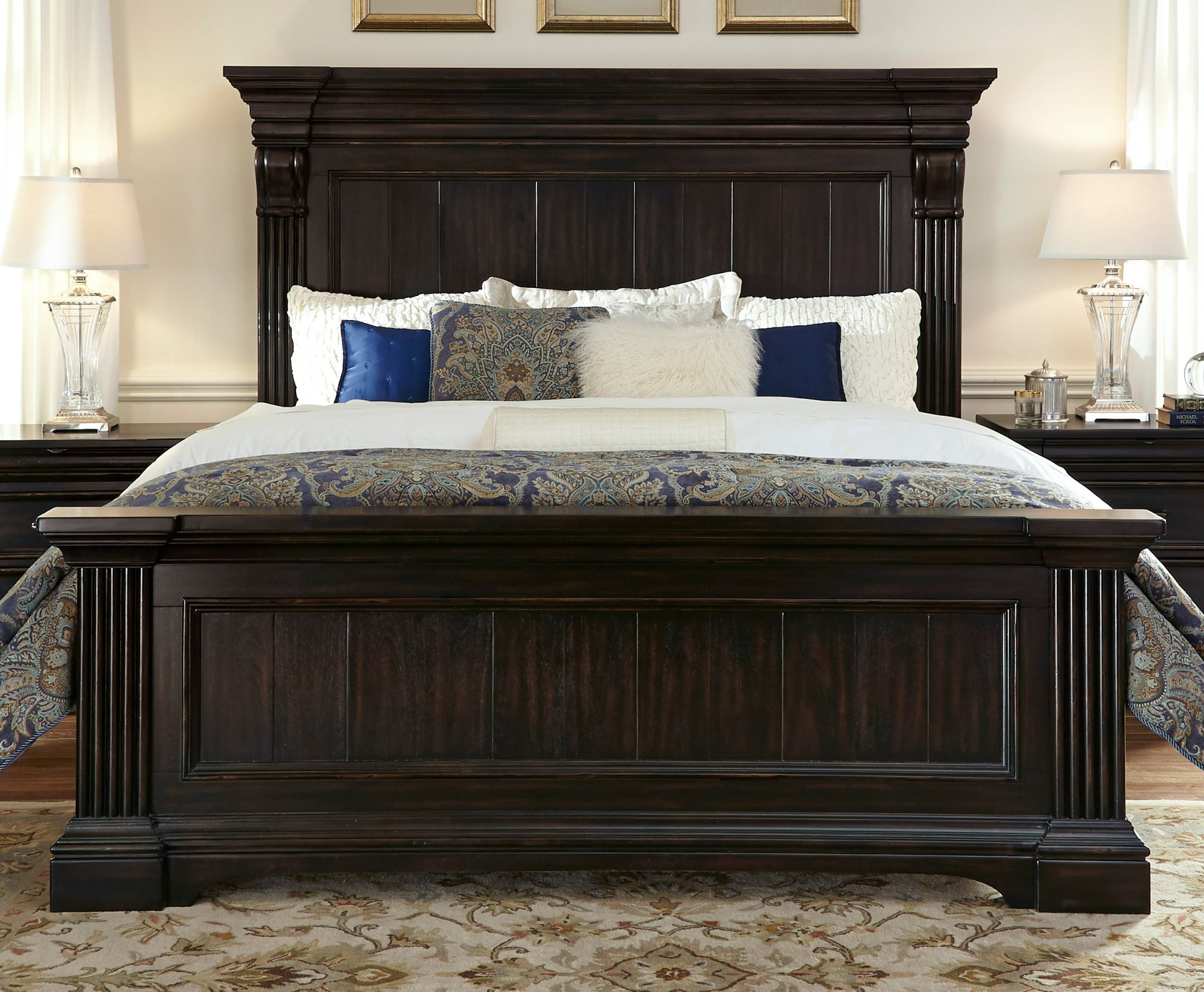 king panel bed - King Panel Bed