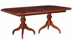 "Pedestal Table Includes Two 18"" Leaves"