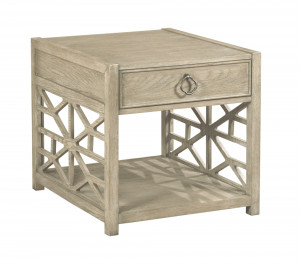 Biscane Drawer End Table