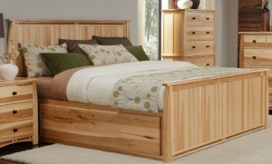 Queen Panel Bed w/ Storage