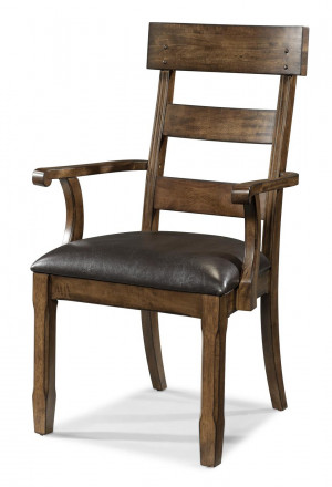 Plank Upholstered Arm Chair