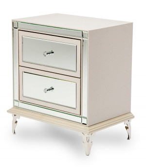 Upholstered Nightstand-Frost