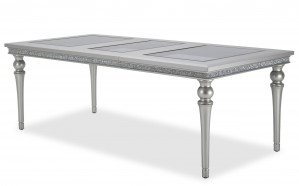 Upholstered Dining Table w/ One 23.75 Inch Leaf