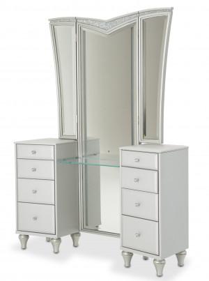 Upholstered Vanity w/ Mirror