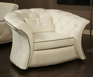 Leather Flare Arm Chair Opt 1