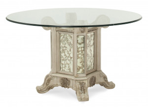 "54"" Round Glass Top Table"
