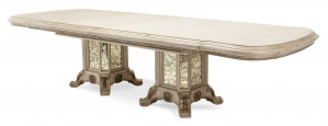 "Rectangular Wood Dining Table w/ Two 24"" Leaves"