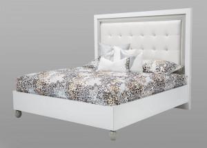Queen Platform Bed-White Cloud