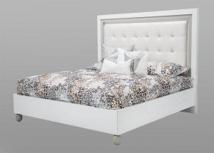 King Platform Bed-White Cloud