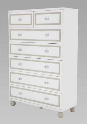 7 Drawer Chest-White Cloud