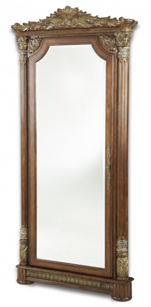 Wall Accent Mirror w/Storage
