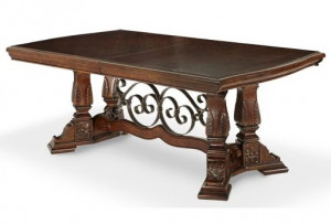 """Rectangular Dining Table Includes Two 20"""" Leaves"""