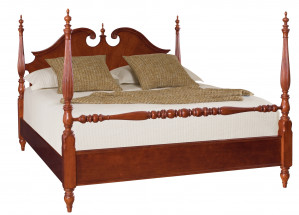King Low Poster Bed