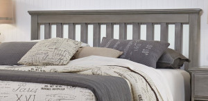 King Slat Headboard with Bed Frame