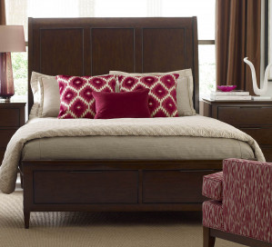 Queen Caris Sleigh Storage Bed
