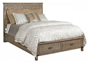 King Panel Bed w/ Storage Footboard