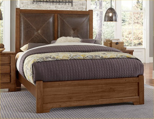 King Leather Bed W/ Matching Footboard