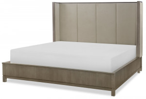 Queen Upholstered Shelter Bed