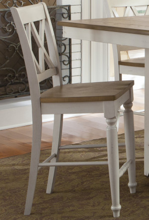 Double X Back Counter Chair