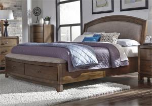 Upholstered King Storage Bed