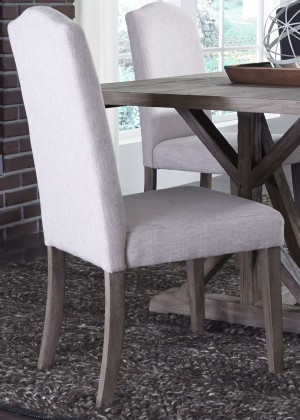 Upholstered Side Chair-Tan