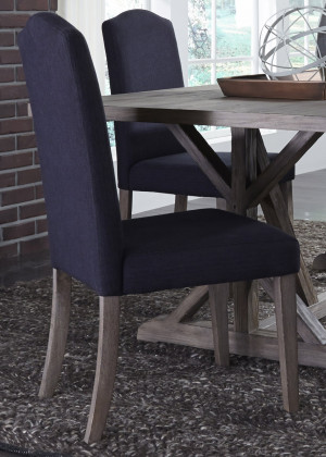 Upholstered Side Chair-Charcoal