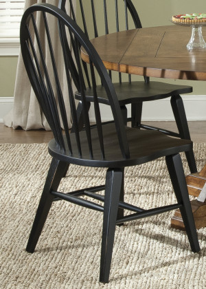 Windsor Back Side Chair-Black