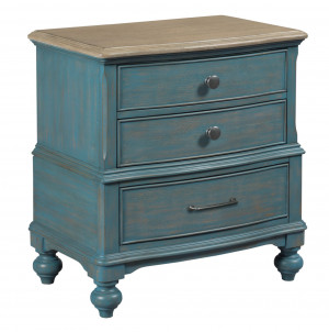 Moray Nightstand-Blue