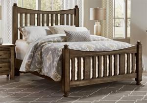Queen Slat Poster Bed