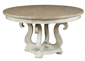 Sussex Round Dining Table w/ 1 20 Inch Leaf