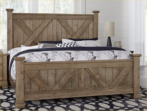 Queen X Bed W/ Matching Footboard