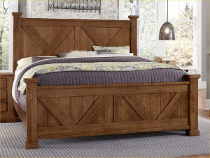 King X Bed W/ Matching Footboard