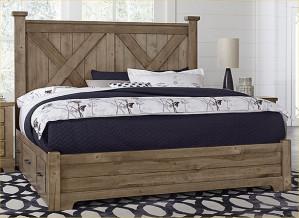 King X Bed W/ One Side Storage