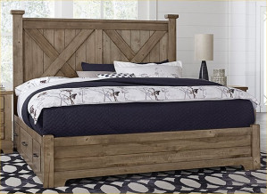King X Bed W/ Two Side Storage
