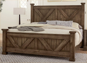 Cal King X Bed W/ Matching Footboard