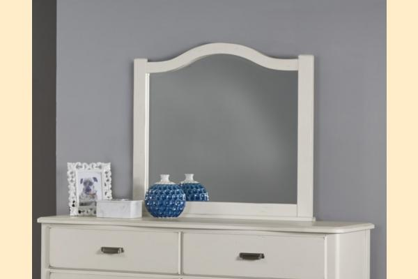 Vaughan Bassett American Maple-Cottage Cherry Arched Mirror